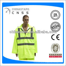 hi-vis reflective raincoat with pockets