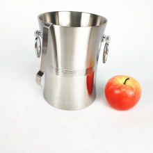 3 gallon sanding finished stainless steel wine chiller bucket with tongs