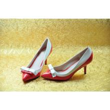 Moda meados de salto alto dedo apontado vestido sapatos (hyy02-619)