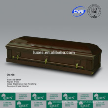 Cofre madera de los chapa de Estados Unidos estilo Álamo (S5-36GR)-guarnición del ataúd