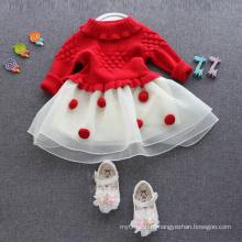 платья свитера для 1лет старинные рождественские элементы очаровательны платья для детей 1-6 лет Рождество популярные свитера одежда горячие