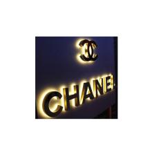Stainless Steel 3d letter Led Backlit Letter Signage Logo Mirror LED backlit led Letter  Logo Sign For Store