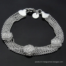 Wholesale Rose 925 Silver Bracelets for Women BSS-015