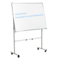 Tableau blanc magnétique effaçable à sec avec roulettes