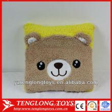 Горячая продажа симпатичная и мягкая подгонянная плюшевая медвежья подушка для животных
