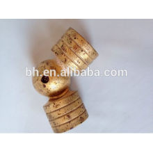 """2"""" Simple Wood Corner Rod Gold Connector"""