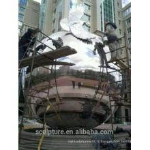 Urbain grande en acier inoxydable en acier 304L balles en métal grande sphère à vendre