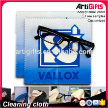 Custom design microfiber sublimated eyeglass cleaning cloth