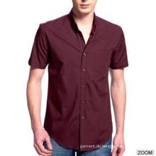 Kundenspezifische 100% Baumwolle Slim Fit Herren Kleid Shirt