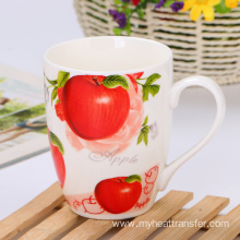 Custom drum type flower fruit ceramic mug