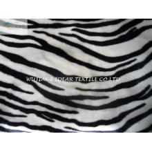 Curta tecido Plush com Zebra para cobertor e brinquedo