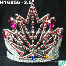 NEW FASHION FREE SHIPPING FACTORY WHOLESALE PURPLE RHINESTONES WEDDING BRIDAL PAGEANT CROWNS/TIARAS
