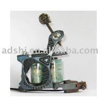 Cadre professionnel en fonte de fonte, fil de cuivre, 8wrap, bobines, doublure, tatouage, mitrailleuse