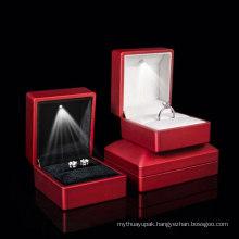 Wholesale LED Light Championship Velvet Ring Box