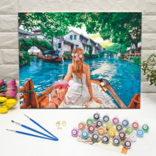 Love couple holding hands DIY beautiful wall decor paint by numbers kit