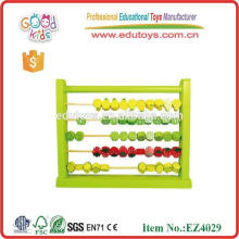 Korea pink Wooden educational abacus Kids Toys