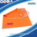 Pano limpo laranja 100% poliéster para óculos