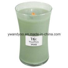 Bougies romantiques de soja de pot de verre pour la décoration