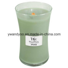 Velas de soja de vidro romântico Jar para decoração
