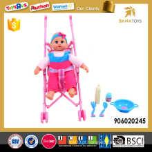 12 polegadas 4 som IC boneca com carrinho