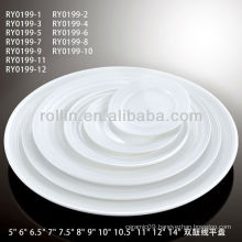best-selling double line porcelain round dinner plates