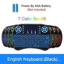 Mini teclado inalámbrico USB retroiluminado Smart TV