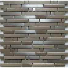Мозаичная настенная плитка, металлическая мозаика из нержавеющей стали (SM262)