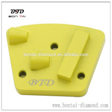 Trapezoid 3 hole screw PCD grinidng plate for glue, coating removal