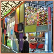 Exposição de alumínio de construção modular stand feira estande exposição da cabine com design livre em Xangai para exposição