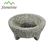 Wholesale Stone Kitchenware Mortar and Pestle Granite Molcajete Grinder Herb