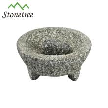 pilão e almofariz de granito molcajete WB203