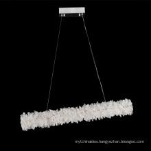 Simple modern crystal chandelier restaurant pendant light for living room