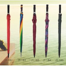 Auto Open Colorful Printing Straight Umbrella (JY-181)