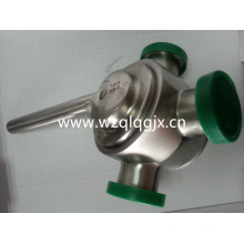Sanitary Stainless Steel Dairy Plug Valve with Union