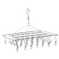 Stainless steel metal clothes hanger socks hanger folding drying rack hanger