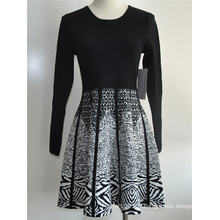 Viscose Nylon Ladies Knit Sweater Robe en une seule pièce