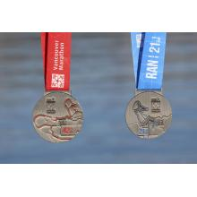 China Gold Supplier for Custom Rotating Medal 2018 Vancouver Marathon Finishers Medal export to Netherlands Suppliers