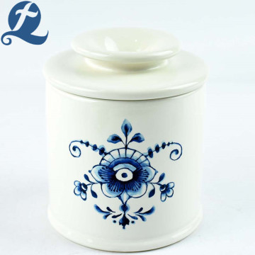 China Creative Kitchen Flower Printed Ceramic Food Storage Jars