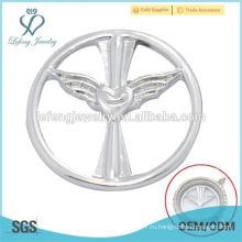 Новый дизайн 22мм круглый серебряный сплав оконных пластин украшения для плавающих фотометок