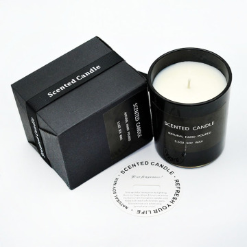 candle black paper packaging boxes