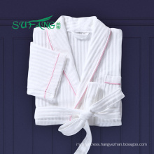 Hotel linen/Luxury 100% cotton waffle/tery cloth/velour bathrobe hotel