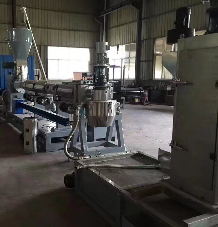 PE regrind flakes pelletizing machine