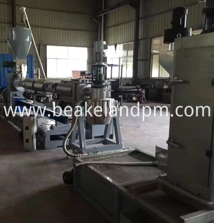 PE regrind flakes pelletizing line