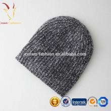 Femmes personnalisé tricoté en gros cachemire beanie chapeaux