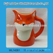 Jarra de leche de cerámica promocional en forma de zorro