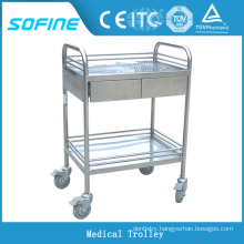 SF-HJ2723 stainless steel hospital crash cart medical trolley