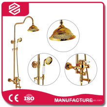 full set shower faucet bathroom gold shower sets