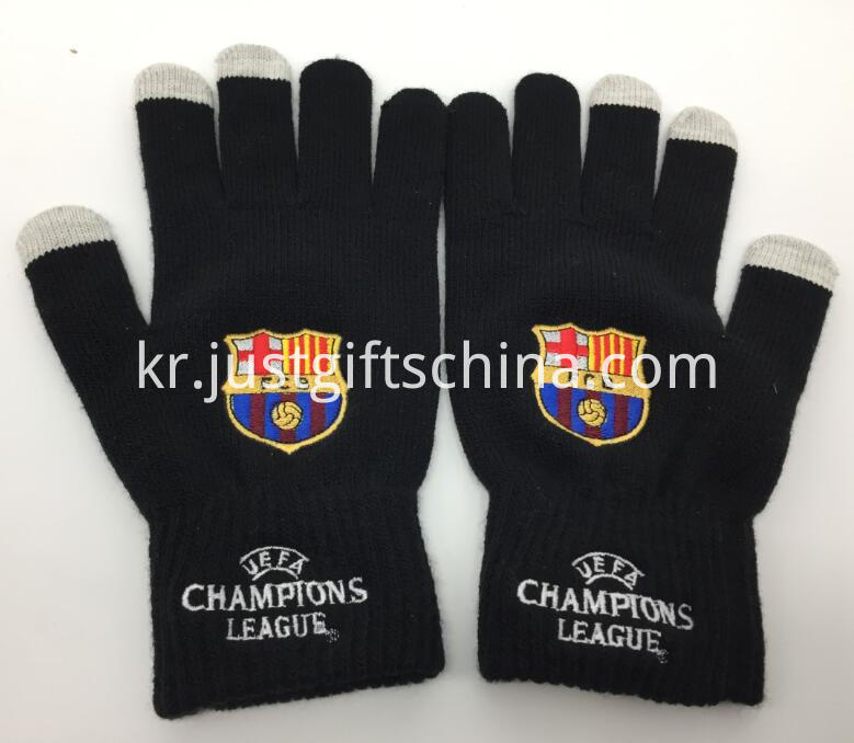 Customized Barcelona Knitted Gloves