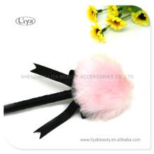 Lolly pelúcia Puff pó cosméticos com alça linda