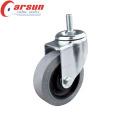 Roulette conductrice pivotante de 100 mm moyenne (avec tige filetée)